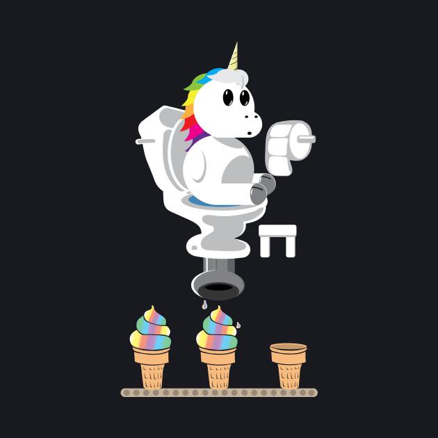 Rainbow Unicorn Ice Cream