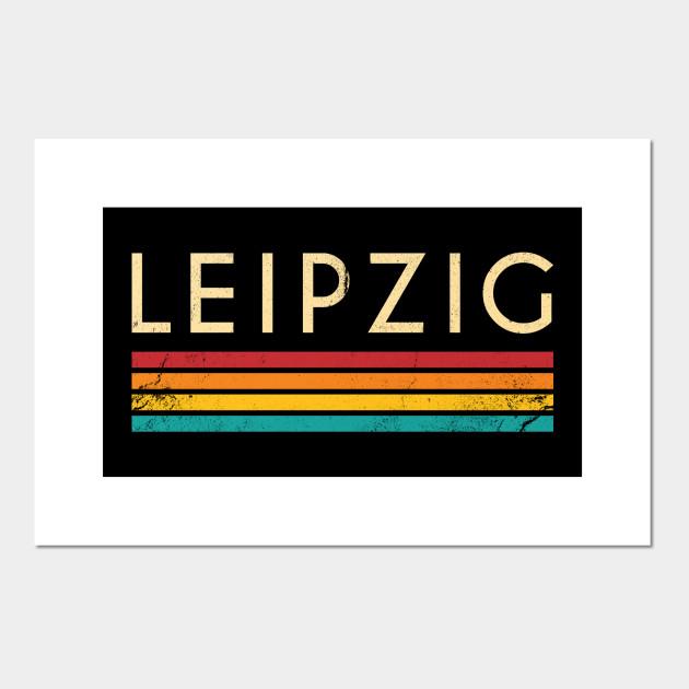 Retro Vintage Leipzig Nostalgic 70s Leipzig Poster E Stampa Artistica Teepublic It