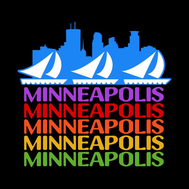 Minneapolis Rainbow Skyline