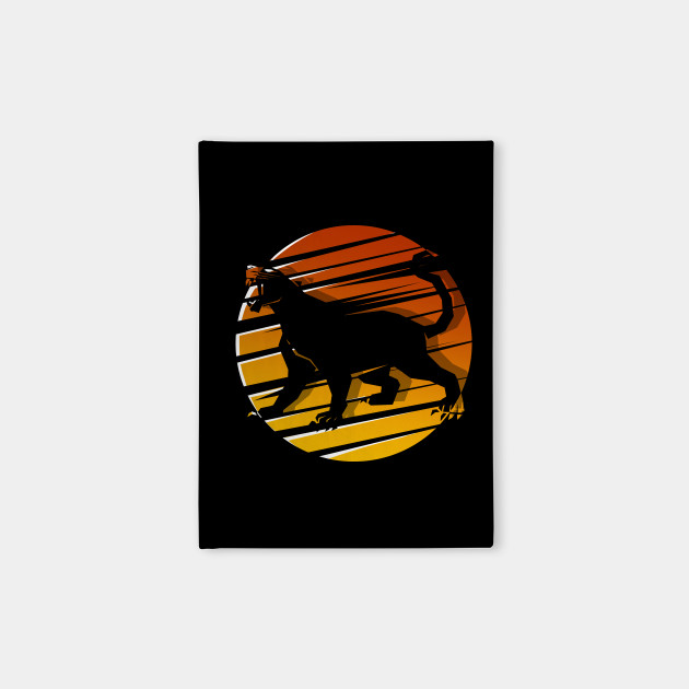 black panther silhouette retro vintage classic design black