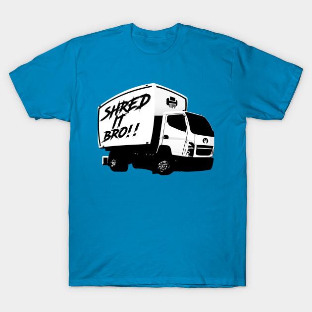 shred it bro meme t shirt teepublic