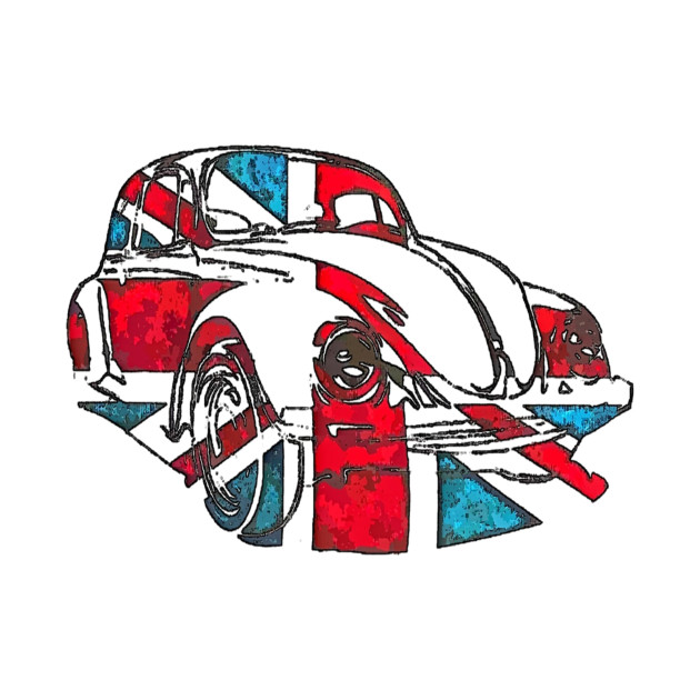 Retro Union Jack Vehicle
