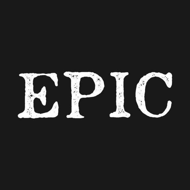 Epic Slogan Statement Bold Typography