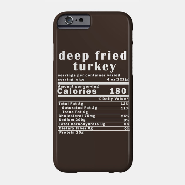 Deep Fried Turkey Nutrition Facts Thanksgiving Thanksgiving Day T-Shirt Phone Case