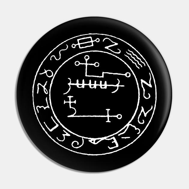 Sigil of Astaroth from Grimorium Verum - Sigil Of Astaroth From Grimorium Verum - Alfiler   TeePublic MX