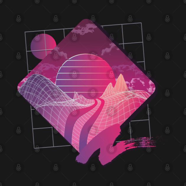 Vaporwave Paradise Aesthetic Retrowave Retro Anime 80s ...