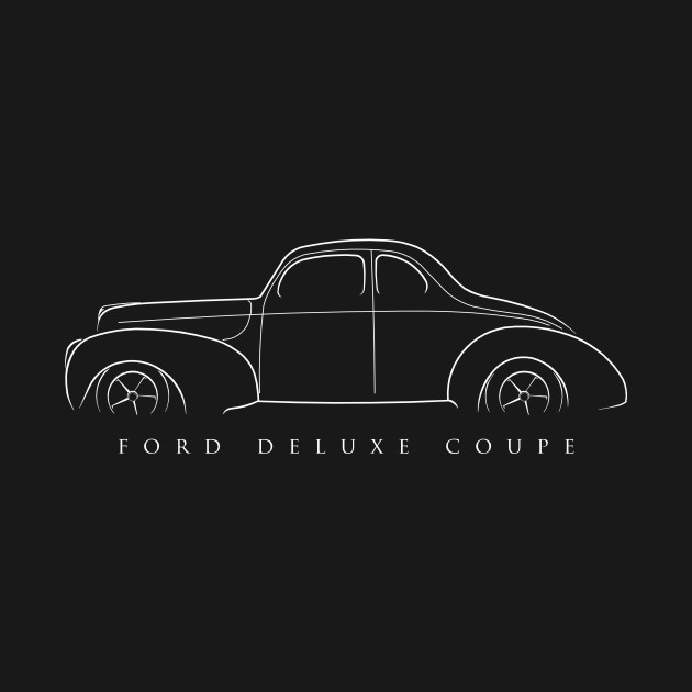1940 Ford Deluxe Coupe - Stencil