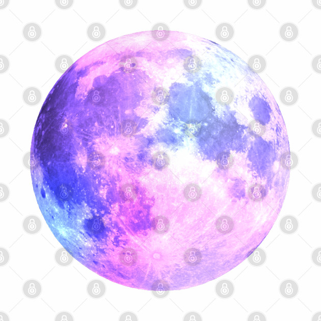 Watercolor Purple Moon