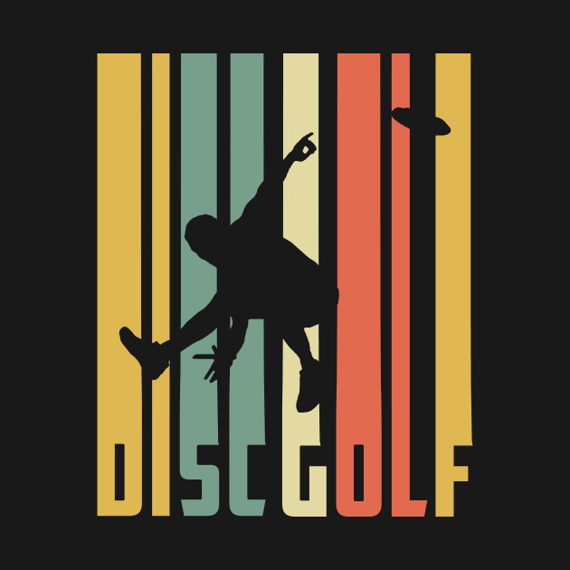 Disc Golf Silhouette Retro Vintage 70s 80s Shirt Disc Golf