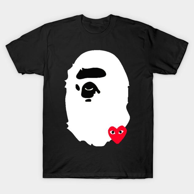 Bape cdg supreme bape cdg supreme t shirt teepublic for Bape t shirt sizing
