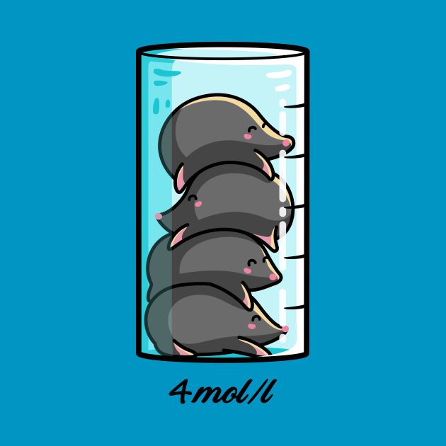 4 Moles Per Litre Chemistry Science Joke
