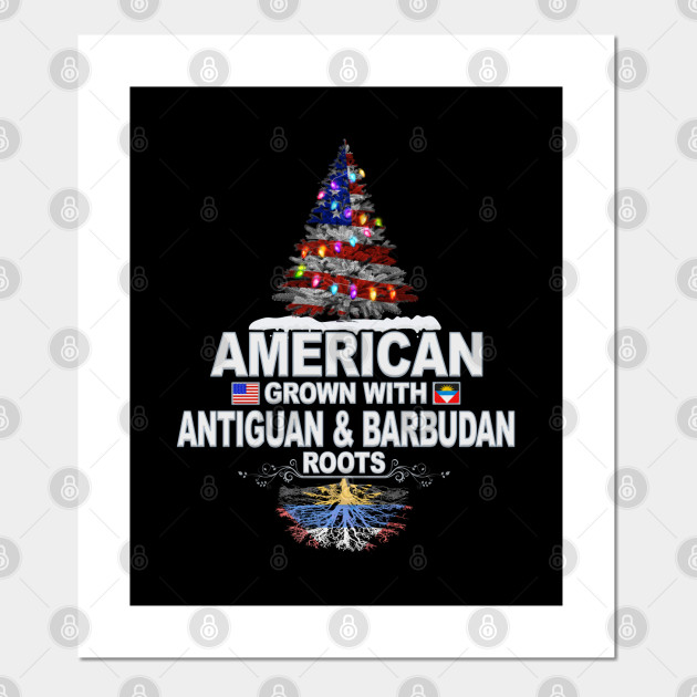 Christmas Tree  American Grown With Antiguan & Barbudan Roots - Gift for Antiguan & Barbudan From Antigua & Barbuda