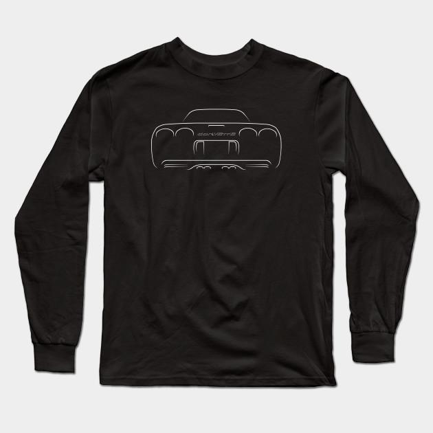 Chevrolet Corvette C5 Z06 - Rear Stencil, white