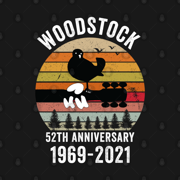 woodstock 52th anniversary 1969 2021,Woodstock Shirt,Woodstock 1969 ,Peace Love Bird