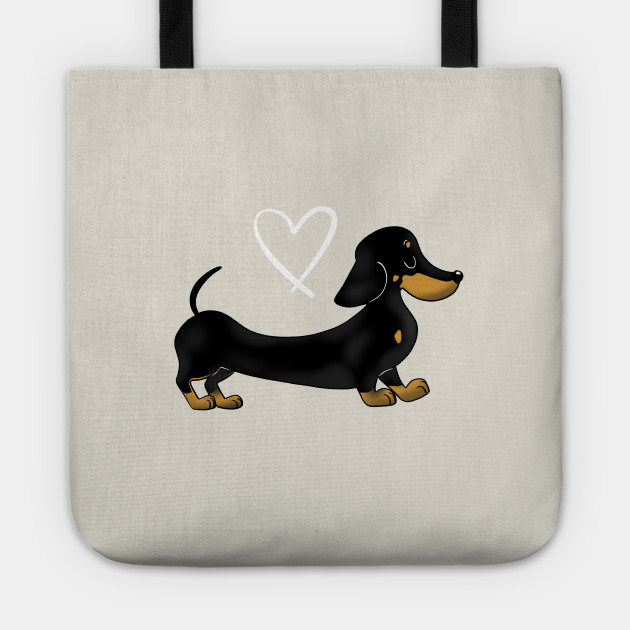 Dachshund Black and Tan smooth haired sausage dog