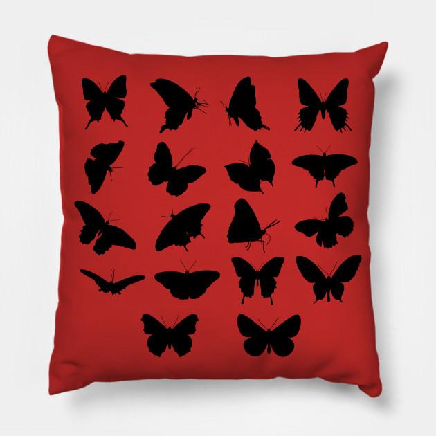 Black minimalistic Butterflies