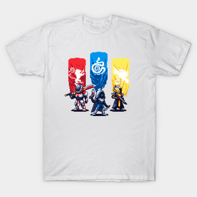 Destiny 2 Pixel Art Guardians T-Shirt-TOZ