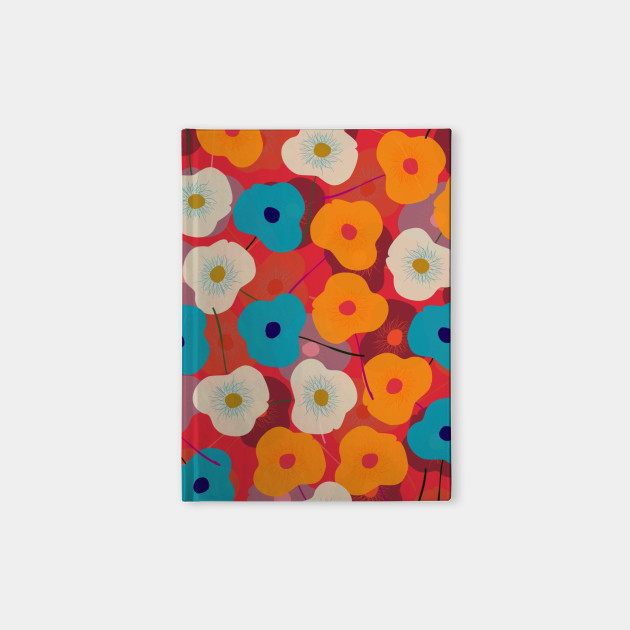 Red Poppy Floral Pattern