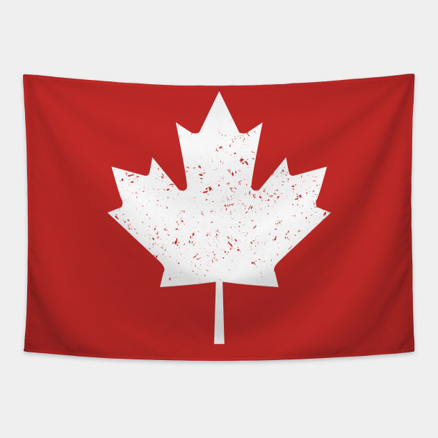 Vintage Canada flag with maple leaf