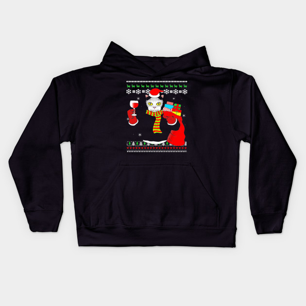Wine Christmas Sweater.Cat Ugly Christmas Sweater Drink Wine