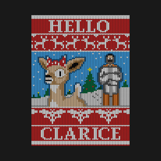 Hello Clarice - Christmas Ugly Sweater - Rudolf / Silence of the Lambs Mashup