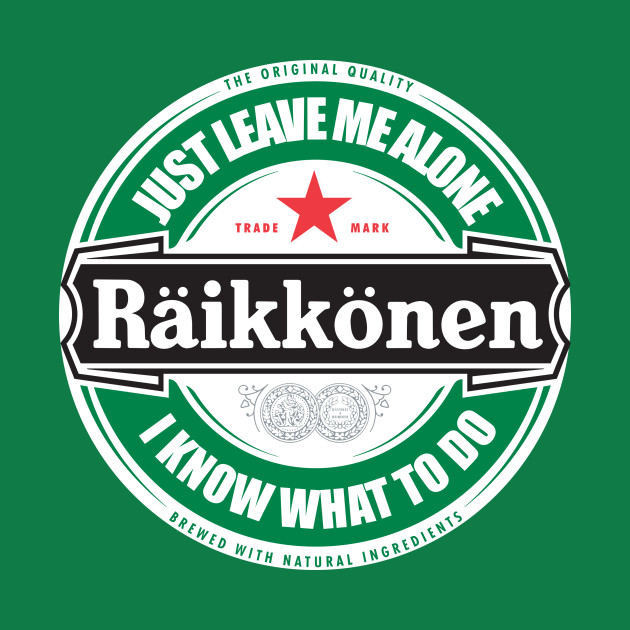 kimi raikkonen leave me alone circular logo i know what