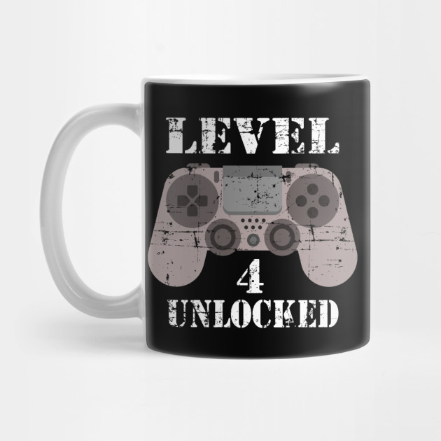 4th Anniversary Gifts For Him Level 4 Unlocked 4th Anniversary Gift Mug Teepublic