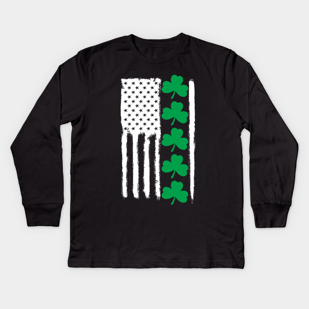 0b3eb52a St. Patrick's Day Shirts for Men/Women.St Patrick's Day Flag Kids Long  Sleeve T-Shirt