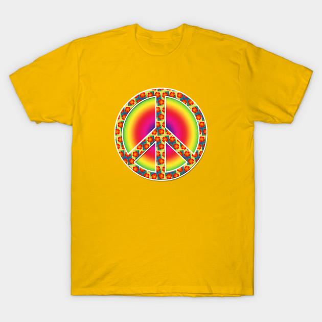 Floral Peace Symbol Peace Sign T Shirt Teepublic