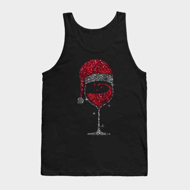 Wine Glass Christmas Wineglass Christmas Tank Top