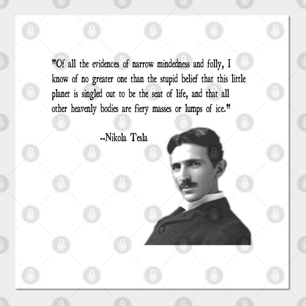 TeePublic - Nikola Tesla Quote