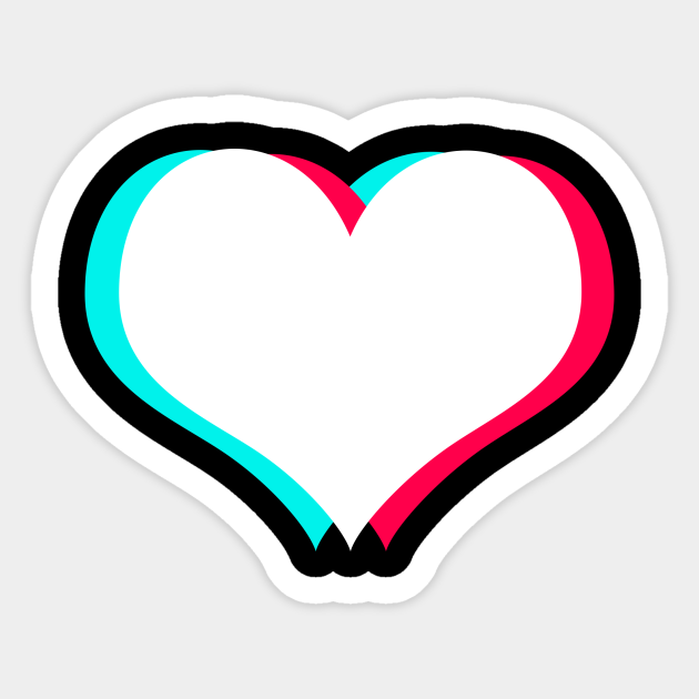 Tiktok Heart White Tiktok Love Sticker Teepublic