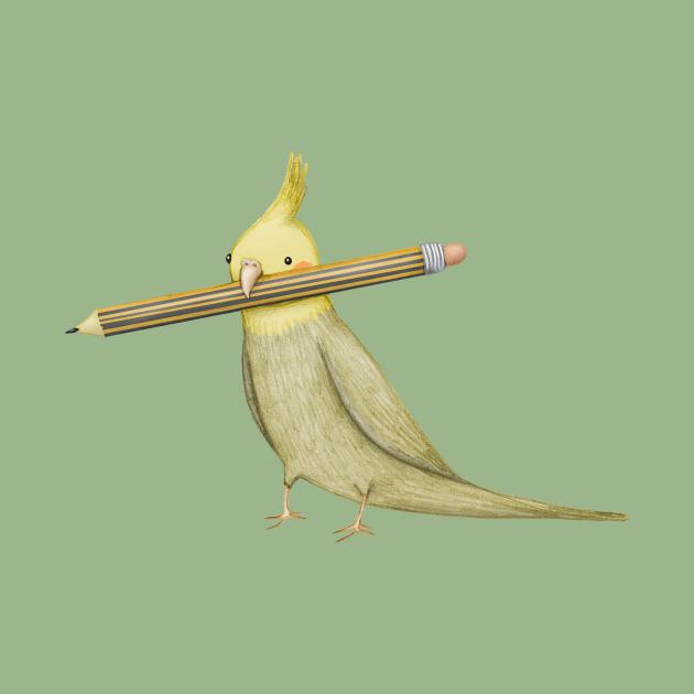 Cockatiel & Pencil