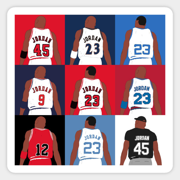 2c516edc2d5db0 Michael Jordan Grid - Michael Jordan - Sticker