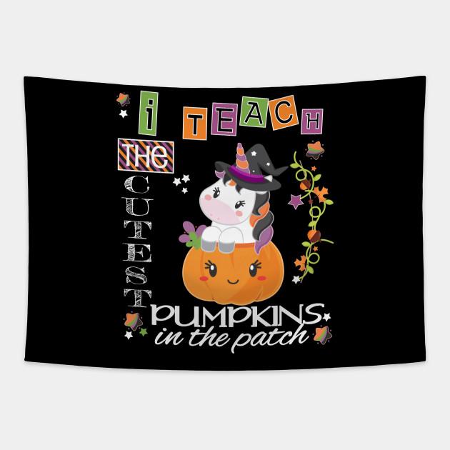 Halloween Unicorn Cutest Pumpkins Funny Teacher Party Gift