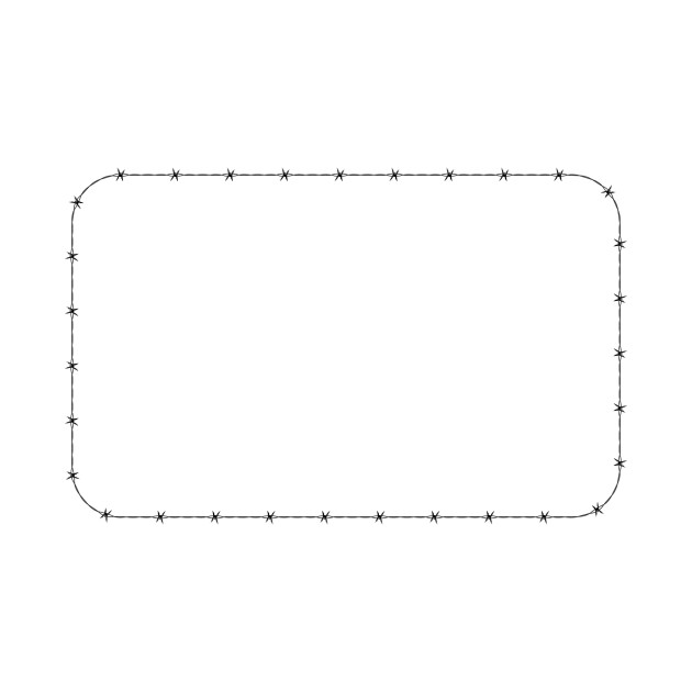 LIMITED EDITION  Exclusive Barbed Wire Rounded Rectangle Frame Border