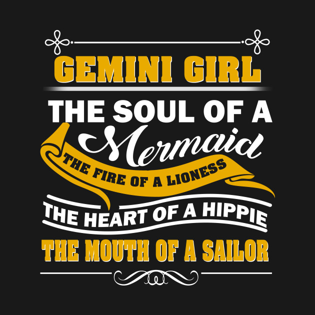 89dd25d603cc28 Gemini girl the soul of a mermaid the fire of a lioness shirt ...