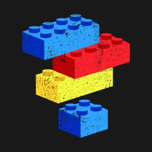 Lego Blocks distressed t-shirts