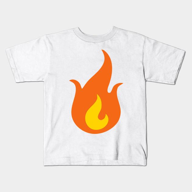 77b6de099 Fire Flame Emoticon Icon - Emoji - Kids T-Shirt | TeePublic