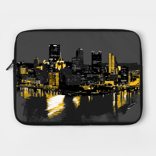 Pittsburgh Downtown Skyline Digital Painting