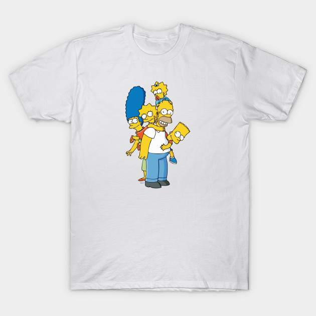 848d7e52b5 The Simpsons Family - Simpsons - T-Shirt | TeePublic