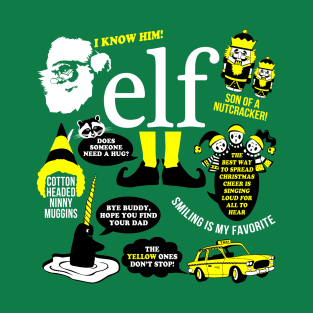 Buddy the Elf Quotes T-Shirt t-shirts