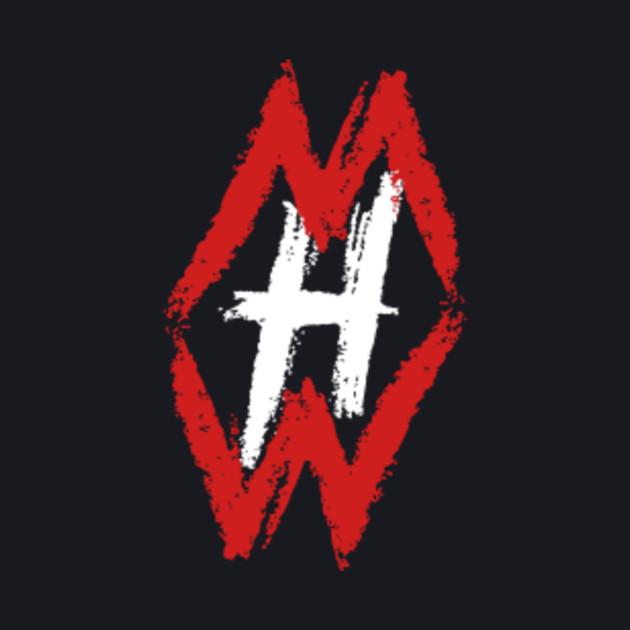White and Red Hidden Wisdom Logo