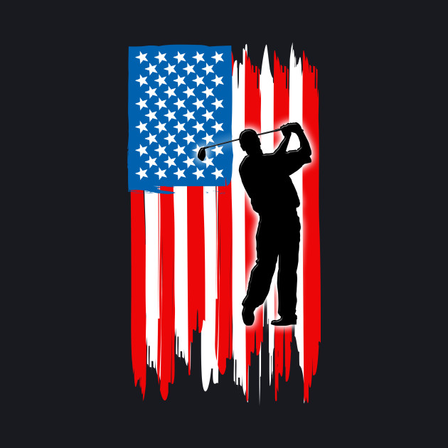 Golf Lover shirt - Golf American flag