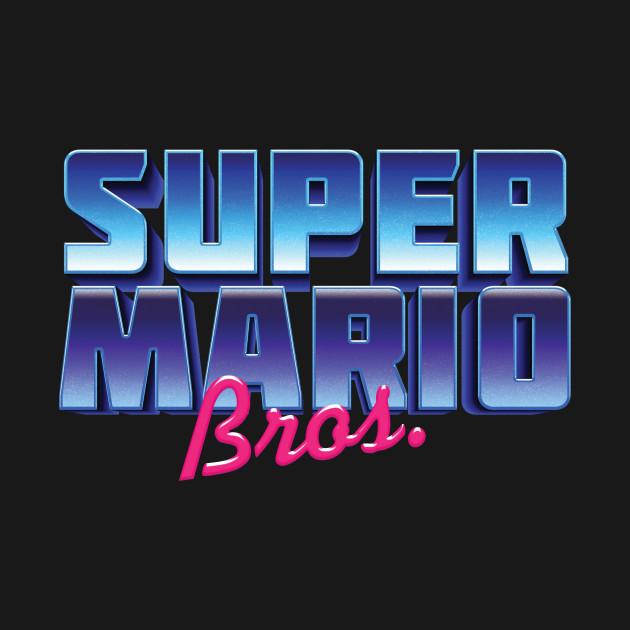 Super Mario Bros 80's Style