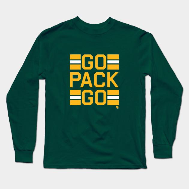 Go Pack Go - Green Bay Packers - Long Sleeve T-Shirt  8a08bdb1b