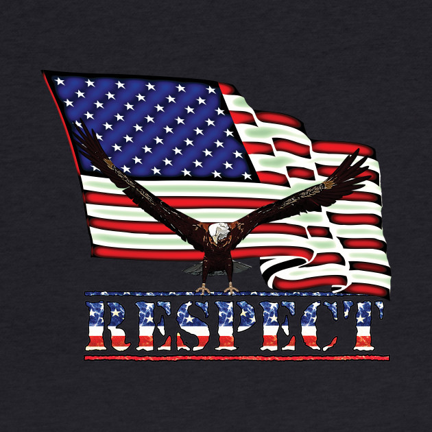 USA Flag with Eagle on RESPECT