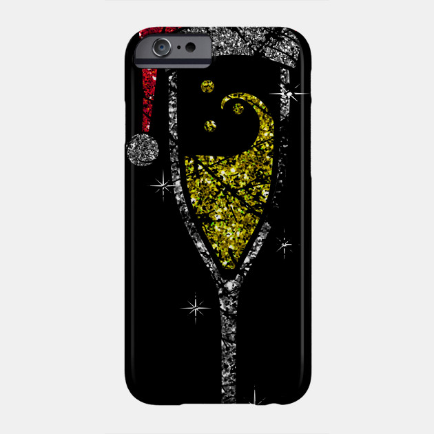 Champagne Glass Christmas champagne glass of sparkling wine glass Phone Case
