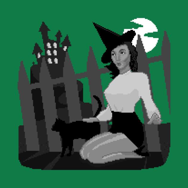 Pixel Art Halloween Pin Up 1
