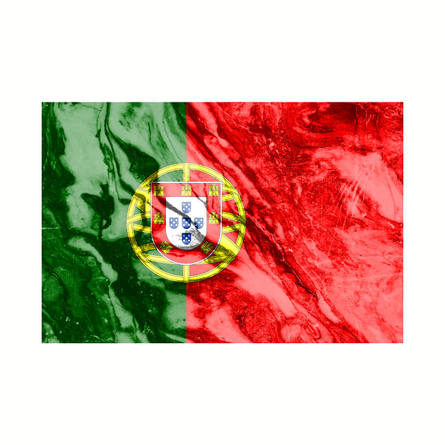 Flag of Portugal - Marble texture